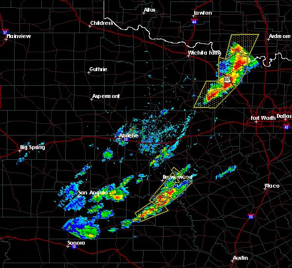 Radar Image for Severe Thunderstorms near Mullin, TX at 4/17/2019 7:37 PM CDT