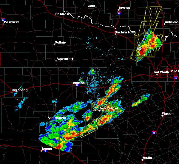 Radar Image for Severe Thunderstorms near Mullin, TX at 4/17/2019 8:17 PM CDT