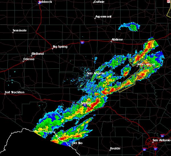 Radar Image for Severe Thunderstorms near Menard, TX at 4/17/2019 8:18 PM CDT