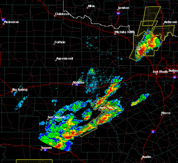 Radar Image for Severe Thunderstorms near Early, TX at 4/17/2019 8:18 PM CDT