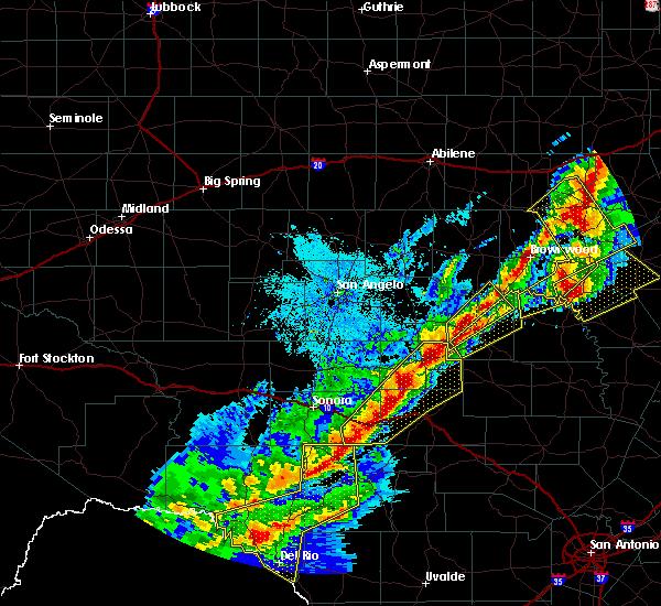 Radar Image for Severe Thunderstorms near Menard, TX at 4/17/2019 8:43 PM CDT