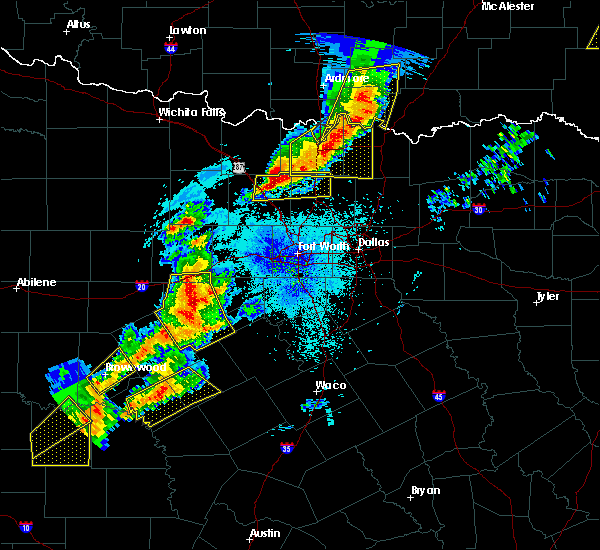 Radar Image for Severe Thunderstorms near Gunter, TX at 4/17/2019 9:25 PM CDT