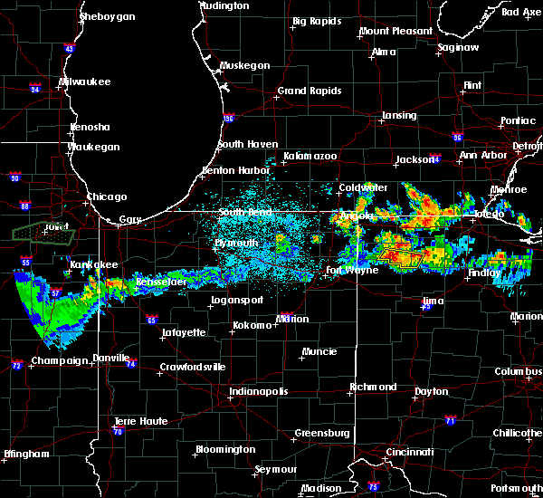 Radar Image for Severe Thunderstorms near Sherwood, OH at 6/10/2015 10:59 PM EDT