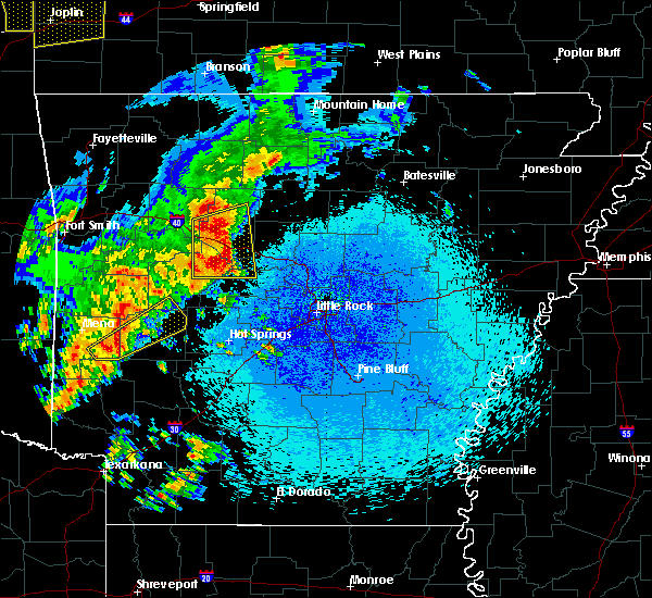 Radar Image for Severe Thunderstorms near Ola, AR at 4/18/2019 12:22 AM CDT