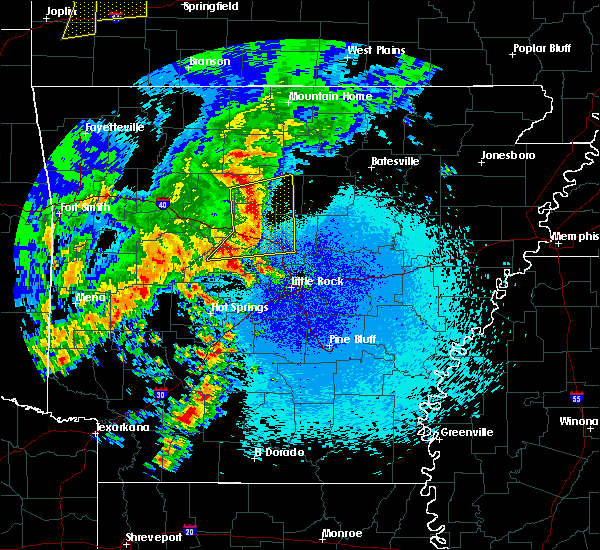 Radar Image for Severe Thunderstorms near Morrilton, AR at 4/18/2019 12:58 AM CDT