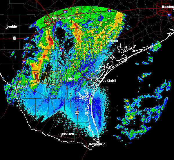 Radar Image for Severe Thunderstorms near Freer, TX at 4/18/2019 3:08 AM CDT