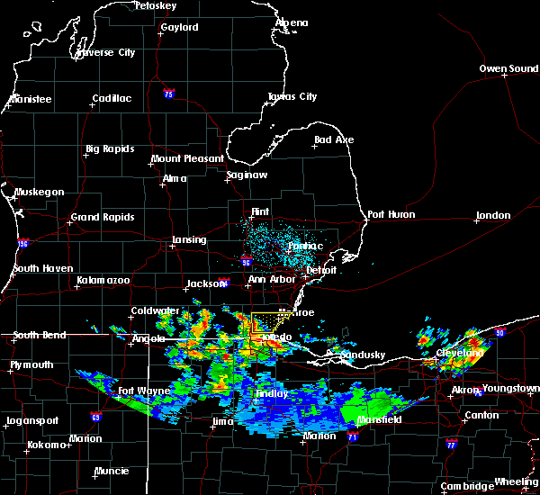 Radar Image for Severe Thunderstorms near Dundee, MI at 6/10/2015 11:42 PM EDT