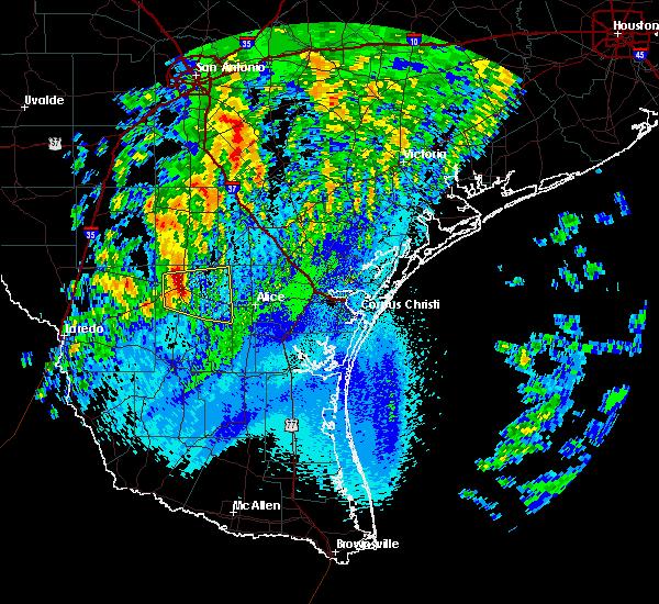 Radar Image for Severe Thunderstorms near Freer, TX at 4/18/2019 3:29 AM CDT