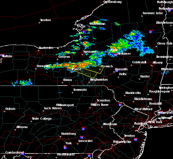 Radar Image for Severe Thunderstorms near Cortland West, NY at 6/10/2015 11:42 PM EDT
