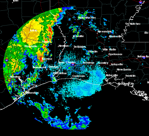 Radar Image for Severe Thunderstorms near Kountze, TX at 4/18/2019 6:08 AM CDT