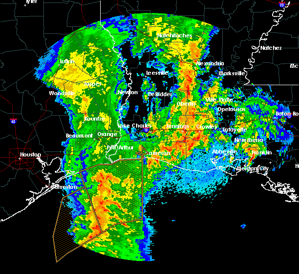 Radar Image for Severe Thunderstorms near Crowley, LA at 4/18/2019 11:04 AM CDT