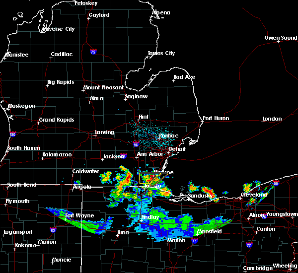 Radar Image for Severe Thunderstorms near Dundee, MI at 6/11/2015 12:05 AM EDT