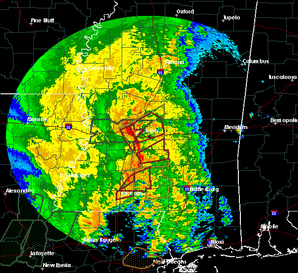 Radar Image for Severe Thunderstorms near Flowood, MS at 4/18/2019 2:45 PM CDT