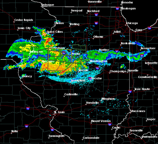 Radar Image for Severe Thunderstorms near Dunfermline, IL at 6/10/2015 11:40 PM CDT