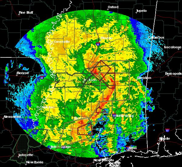 Radar Image for Severe Thunderstorms near Ellisville, MS at 4/18/2019 3:47 PM CDT