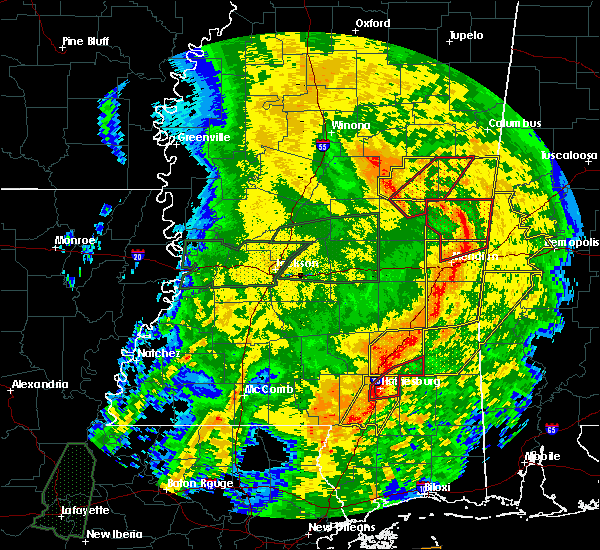 Radar Image for Severe Thunderstorms near Lauderdale, MS at 4/18/2019 4:51 PM CDT