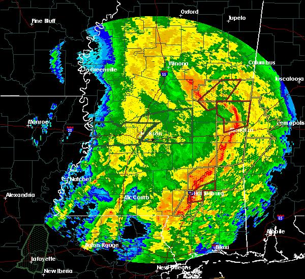 Radar Image for Severe Thunderstorms near Ellisville, MS at 4/18/2019 4:53 PM CDT