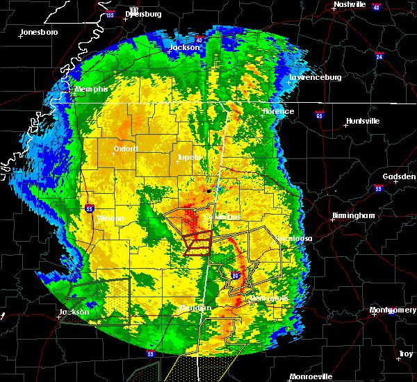 Radar Image for Severe Thunderstorms near Starkville, MS at 4/18/2019 5:50 PM CDT