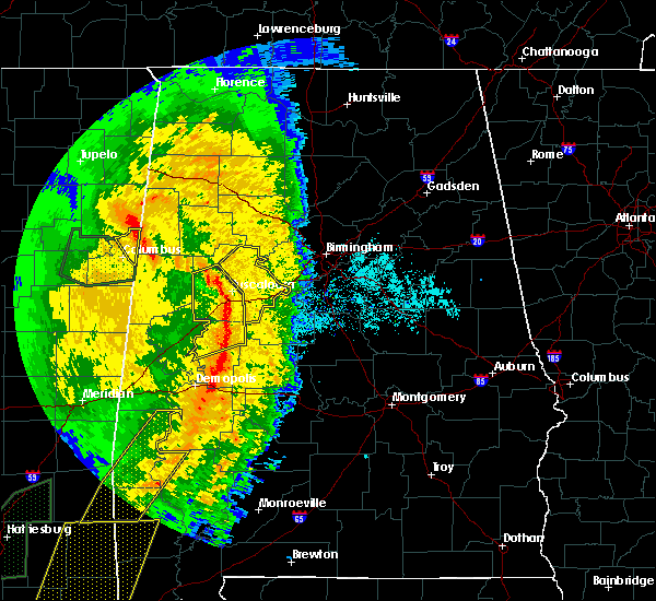 Radar Image for Severe Thunderstorms near Tuscaloosa, AL at 4/18/2019 6:21 PM CDT
