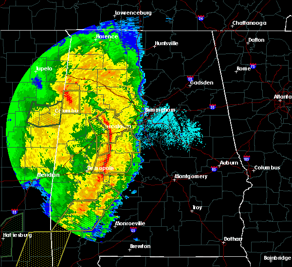 Radar Image for Severe Thunderstorms near Tuscaloosa, AL at 4/18/2019 6:36 PM CDT