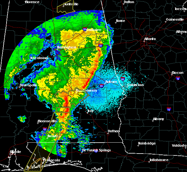Radar Image for Severe Thunderstorms near Pike Road, AL at 4/18/2019 9:11 PM CDT