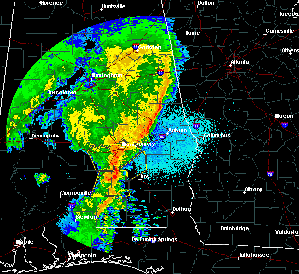 Radar Image for Severe Thunderstorms near Pike Road, AL at 4/18/2019 9:29 PM CDT