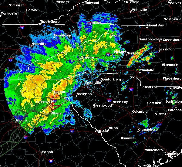 Radar Image for Severe Thunderstorms near Ila, GA at 4/19/2019 8:12 AM EDT