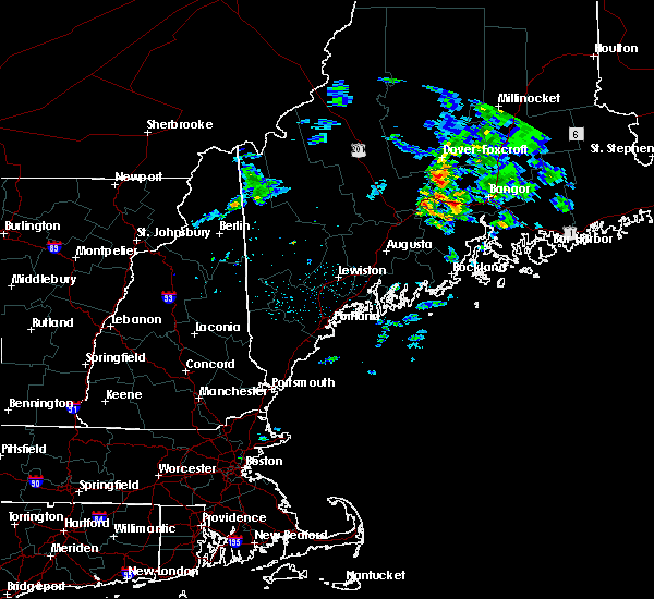 Radar Image for Severe Thunderstorms near Newport, ME at 6/11/2015 4:28 AM EDT
