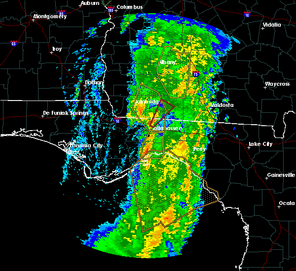 Radar Image for Severe Thunderstorms near Tallahassee, FL at 4/19/2019 9:14 AM EDT