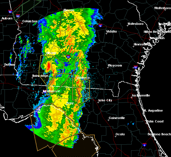 Radar Image for Severe Thunderstorms near Jennings, FL at 4/19/2019 9:46 AM EDT