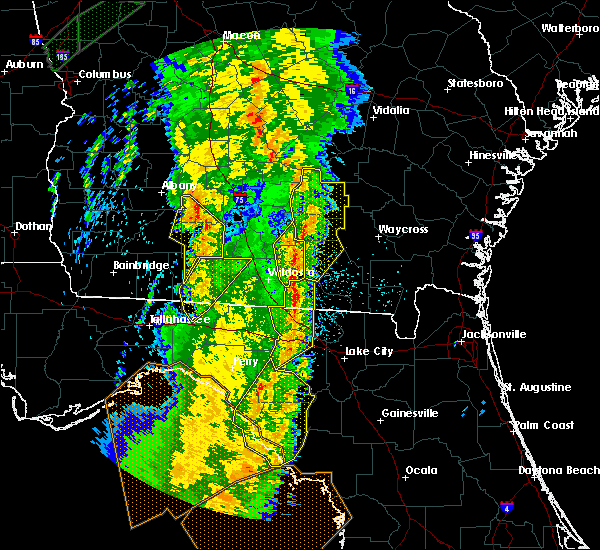 Radar Image for Severe Thunderstorms near Jennings, FL at 4/19/2019 10:08 AM EDT