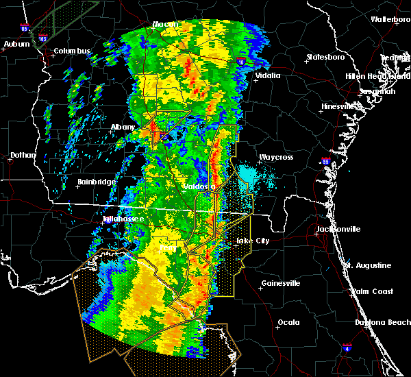 Radar Image for Severe Thunderstorms near Statenville, GA at 4/19/2019 10:26 AM EDT