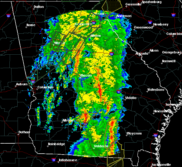 Radar Image for Severe Thunderstorms near Cadwell, GA at 4/19/2019 10:36 AM EDT