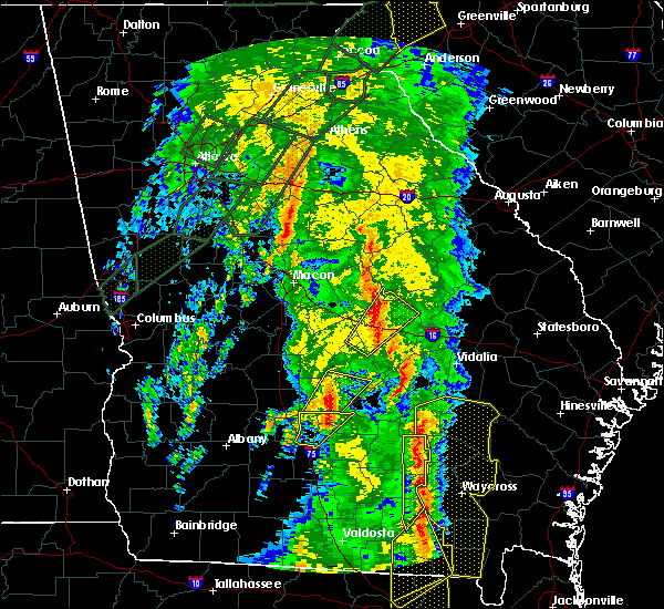 Radar Image for Severe Thunderstorms near Fitzgerald, GA at 4/19/2019 10:49 AM EDT