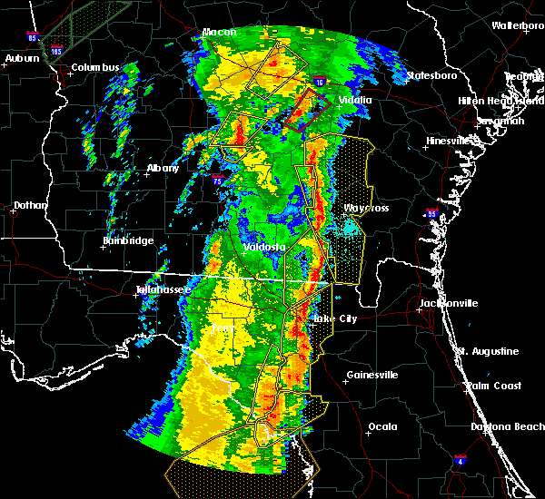 Radar Image for Severe Thunderstorms near Cross City, FL at 4/19/2019 10:52 AM EDT