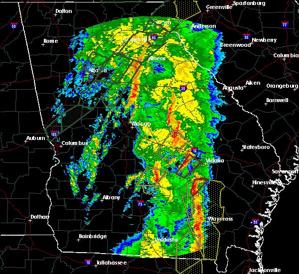 Radar Image for Severe Thunderstorms near Fitzgerald, GA at 4/19/2019 10:59 AM EDT