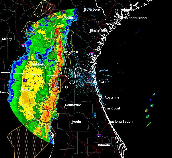 Radar Image for Severe Thunderstorms near Newberry, FL at 4/19/2019 11:05 AM EDT