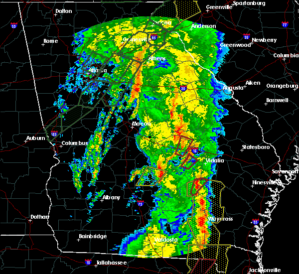 Radar Image for Severe Thunderstorms near Rhine, GA at 4/19/2019 11:08 AM EDT