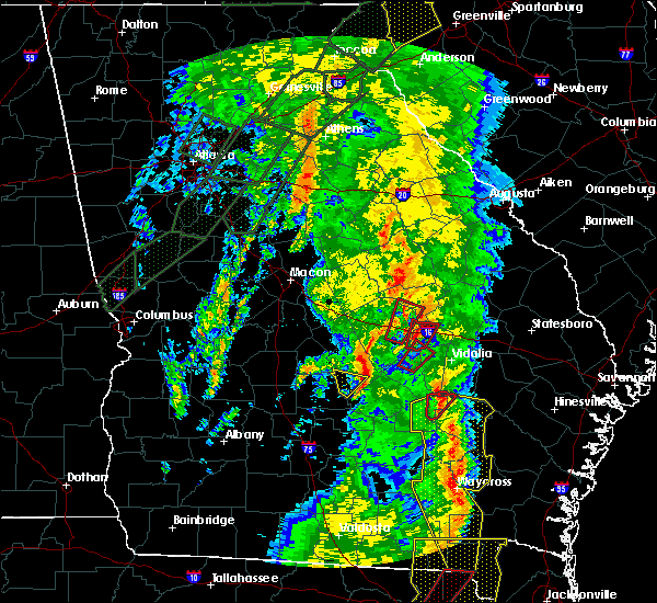 Radar Image for Severe Thunderstorms near Helena, GA at 4/19/2019 11:17 AM EDT