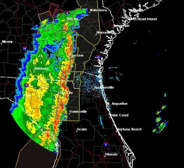 Radar Image for Severe Thunderstorms near Gainesville, FL at 4/19/2019 11:21 AM EDT