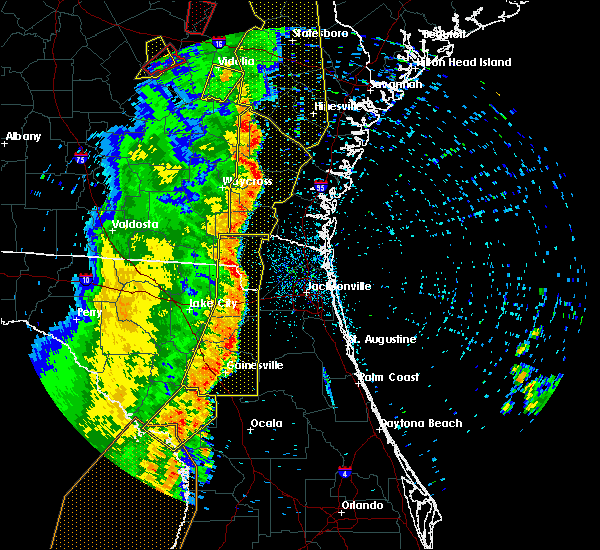Radar Image for Severe Thunderstorms near Newberry, FL at 4/19/2019 11:33 AM EDT