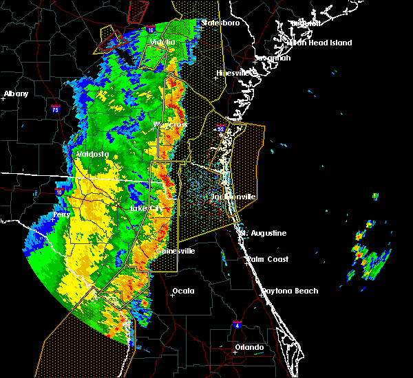 Radar Image for Severe Thunderstorms near Callahan, FL at 4/19/2019 11:39 AM EDT