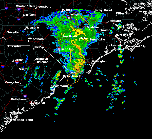 Radar Image for Severe Thunderstorms near Leland, NC at 4/19/2019 11:40 AM EDT