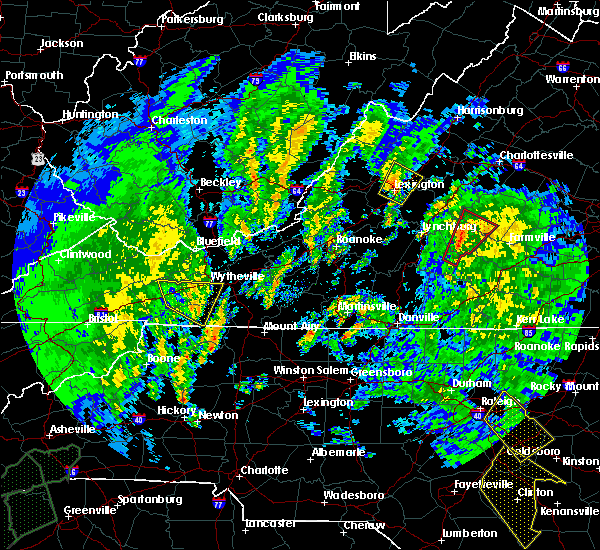 Radar Image for Severe Thunderstorms near East Lexington, VA at 4/19/2019 12:02 PM EDT