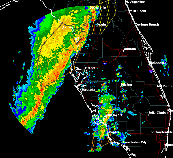 Radar Image for Severe Thunderstorms near Sugarmill Woods, FL at 4/19/2019 12:15 PM EDT