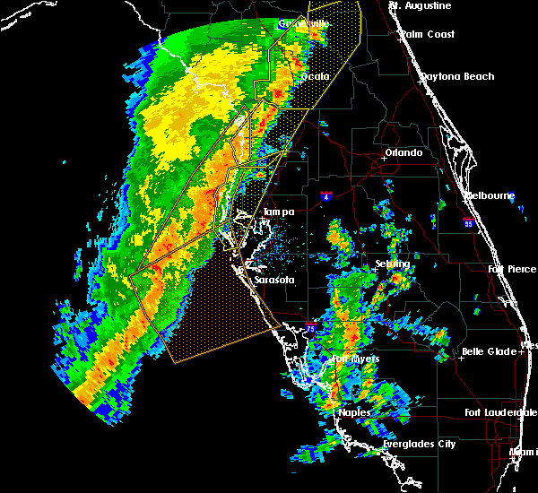 Radar Image for Severe Thunderstorms near Lutz, FL at 4/19/2019 12:37 PM EDT
