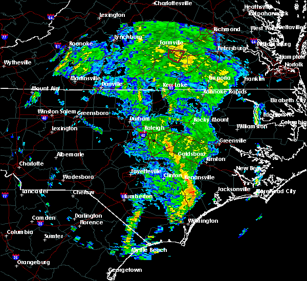 Radar Image for Severe Thunderstorms near Wilson, NC at 4/19/2019 12:37 PM EDT