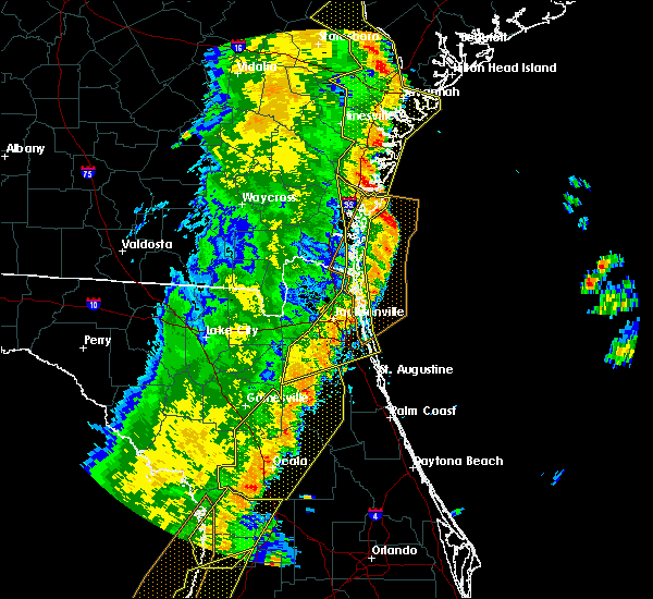Radar Image for Severe Thunderstorms near Bunnell, FL at 4/19/2019 12:49 PM EDT