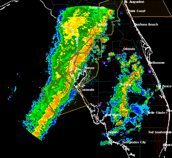 Radar Image for Severe Thunderstorms near Cheval, FL at 4/19/2019 1:22 PM EDT