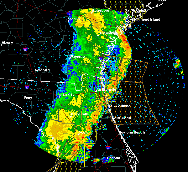 Radar Image for Severe Thunderstorms near Flagler Estates, FL at 4/19/2019 1:28 PM EDT